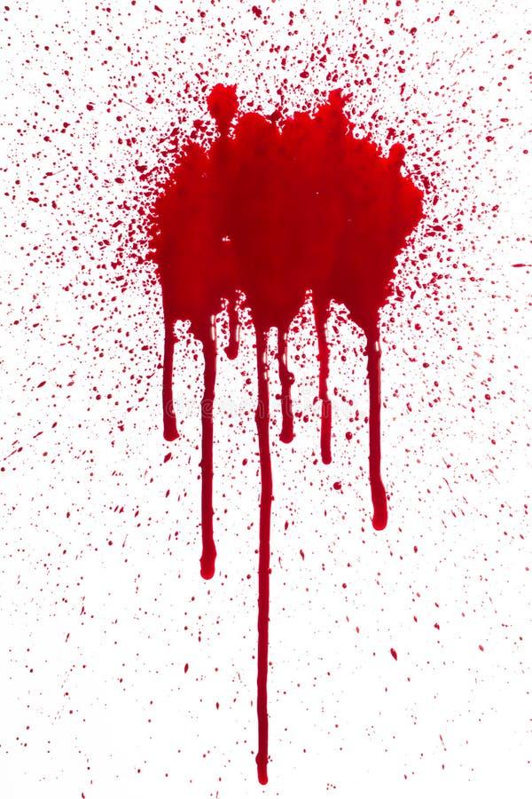 Blodsplat och droppande arkivfoton