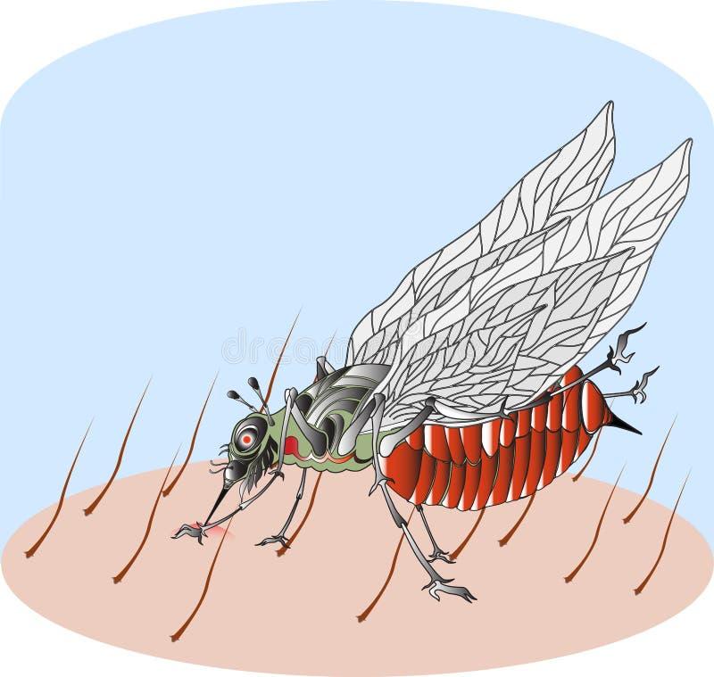 blodtörstiga myggor vektor illustrationer