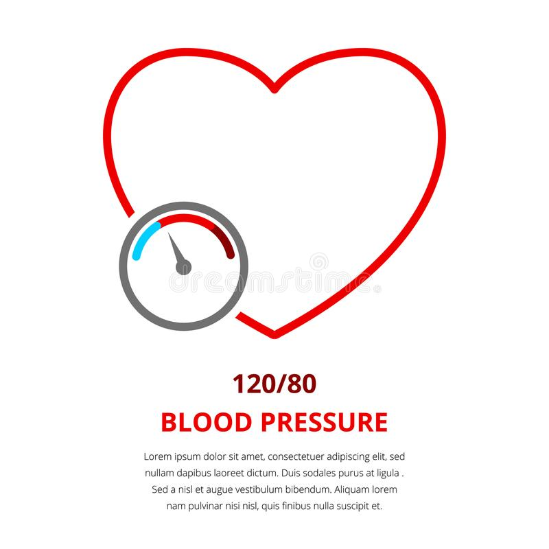 Blodtryck 120 stock illustrationer