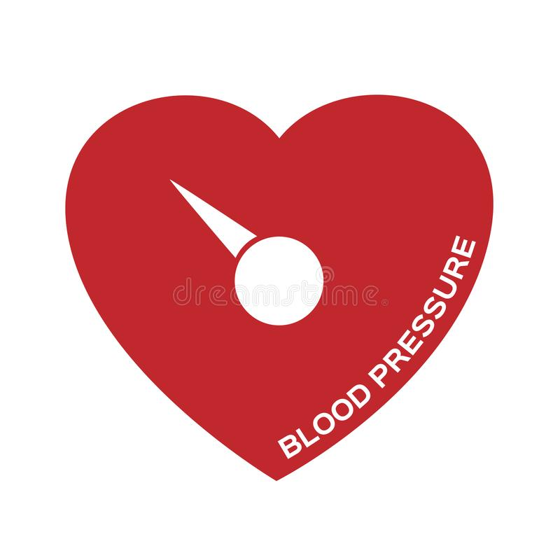 Blodtryck och symbol royaltyfri illustrationer