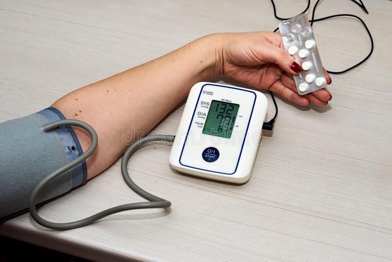 Blodtryck Tonometer fotografering för bildbyråer