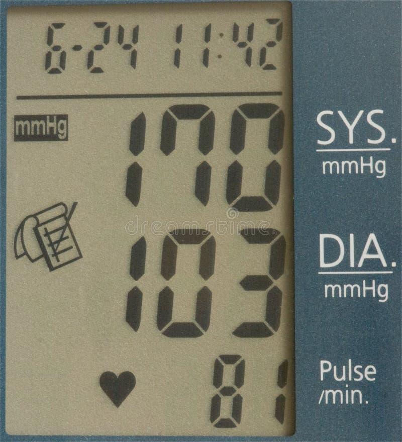 blodtryckreadout fotografering för bildbyråer