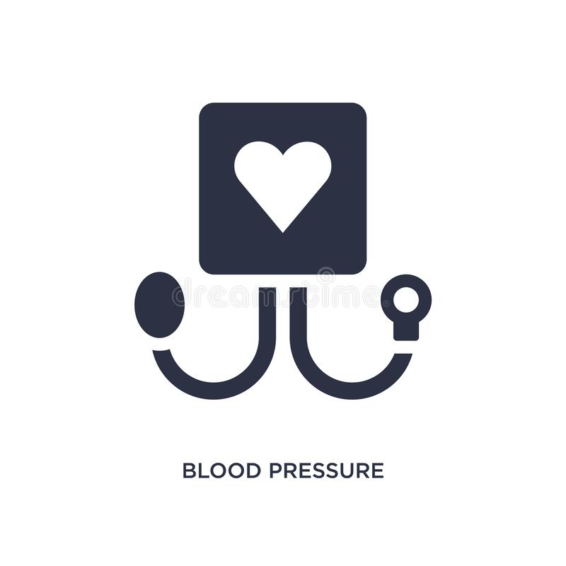 blodtrycksymbol på vit bakgrund Enkel beståndsdelillustration från medicinskt begrepp stock illustrationer