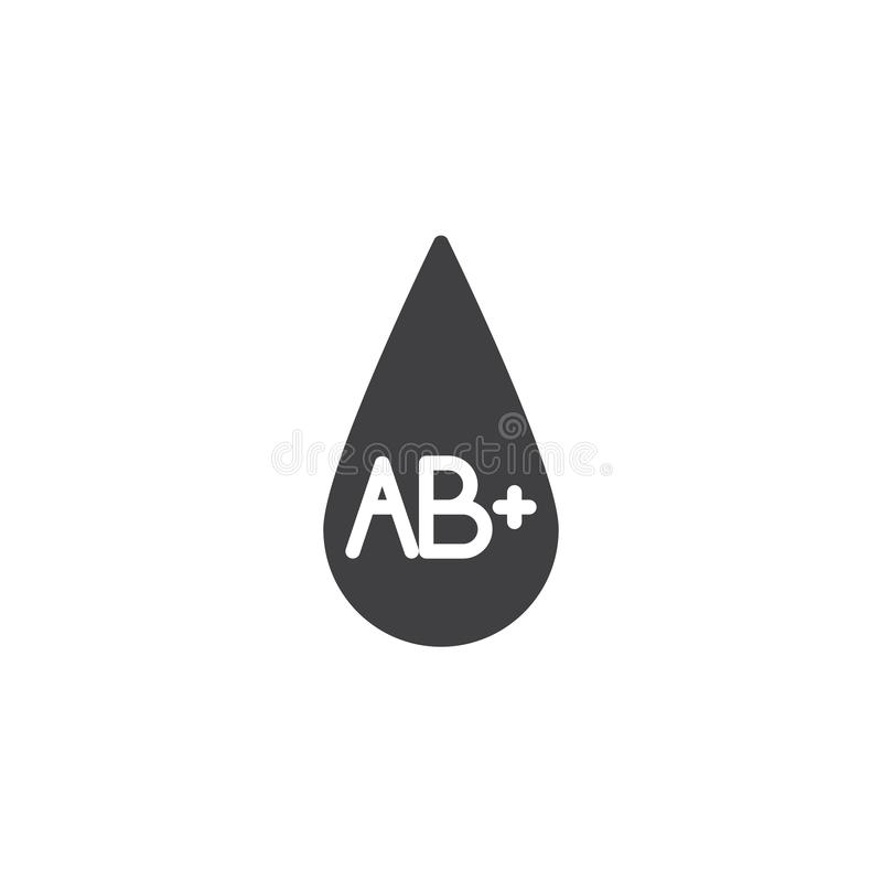 Blodtyp AB plus vektorsymbol vektor illustrationer