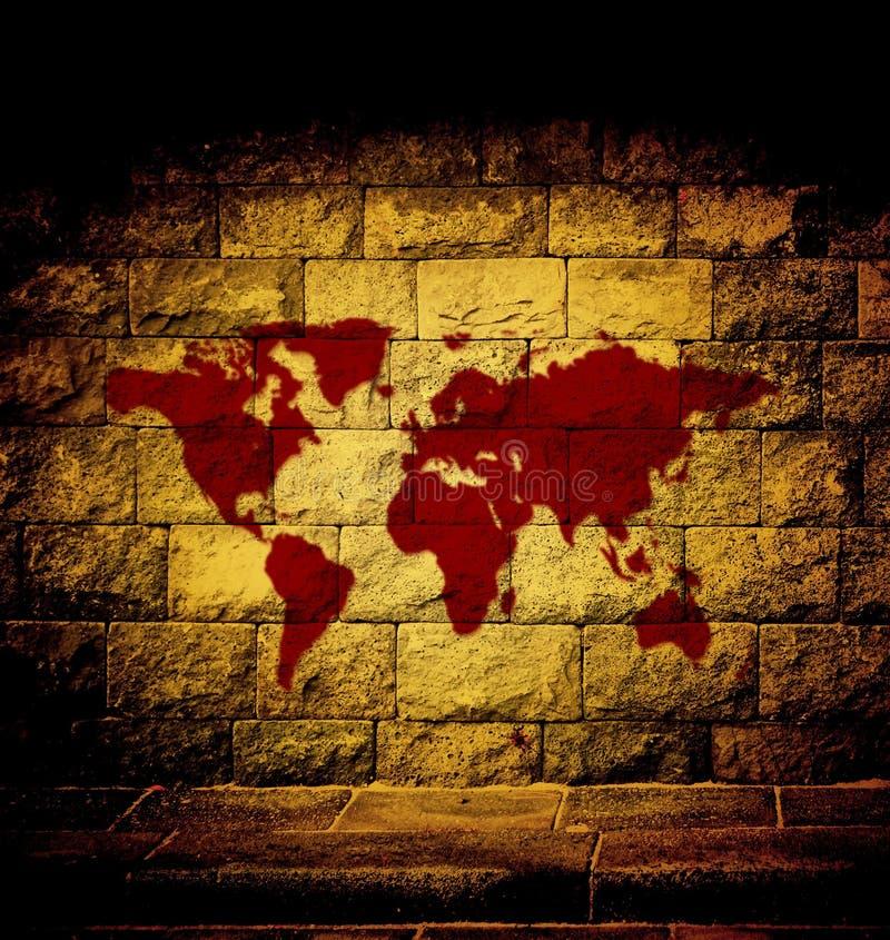 Blodvärldskarta arkivfoto