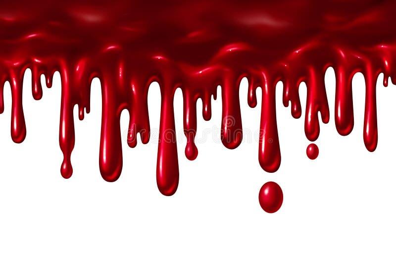 Bloed het Vloeibare Druipen royalty-vrije illustratie