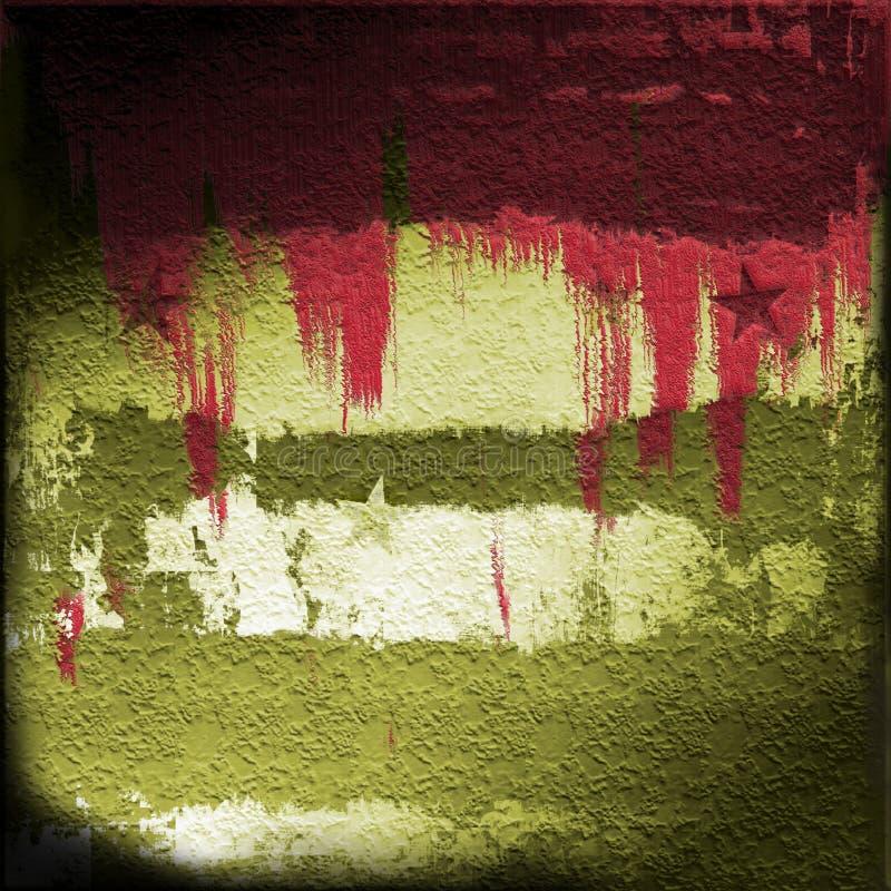 Bloed op Militaire Grunge vector illustratie