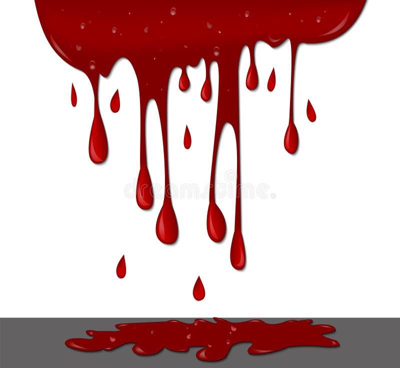 Bloed op muur vector illustratie