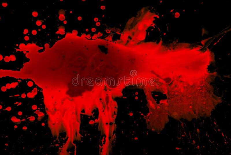 Bloed op zwarte royalty-vrije stock fotografie