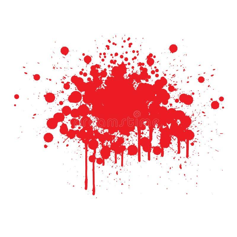Bloed splats stock illustratie