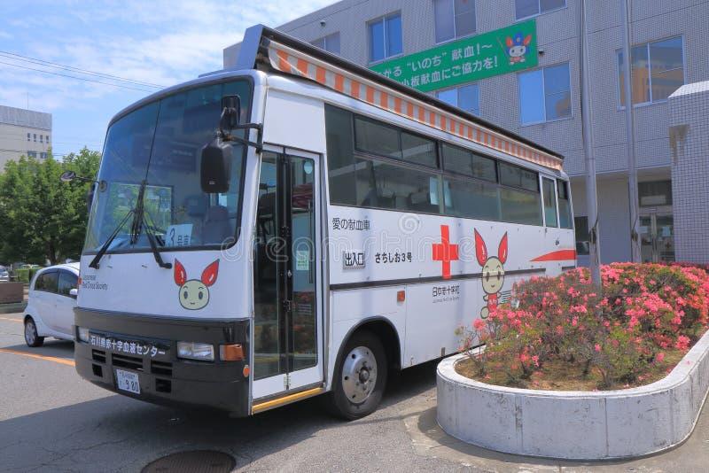 Bloeddonatieauto in Japan royalty-vrije stock afbeeldingen