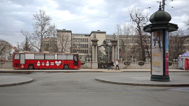 Bloeddonatiebus royalty-vrije stock afbeelding