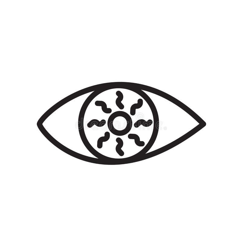 bloeddoorlopen die oogpictogram op witte achtergrond wordt geïsoleerd royalty-vrije illustratie