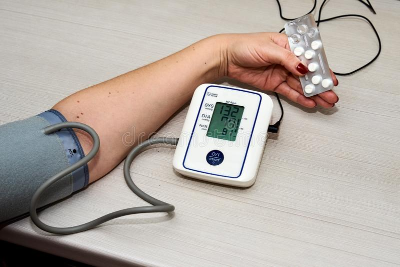 Bloeddruk Tonometer stock afbeelding