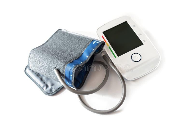 Bloeddrukmaat met een lege digitale monitor om te wijzen op hy royalty-vrije stock afbeeldingen