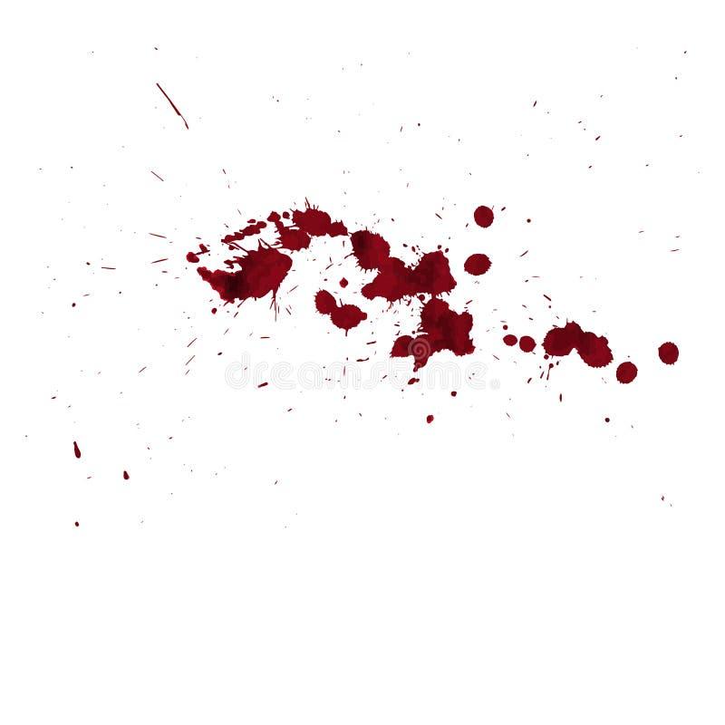 Bloeddruppel Goede bloedachtergrond in Halloween-dag stock illustratie