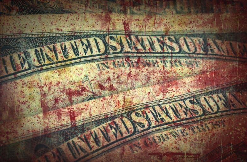 Bloedgeld, Amerikaanse dollars stock afbeeldingen