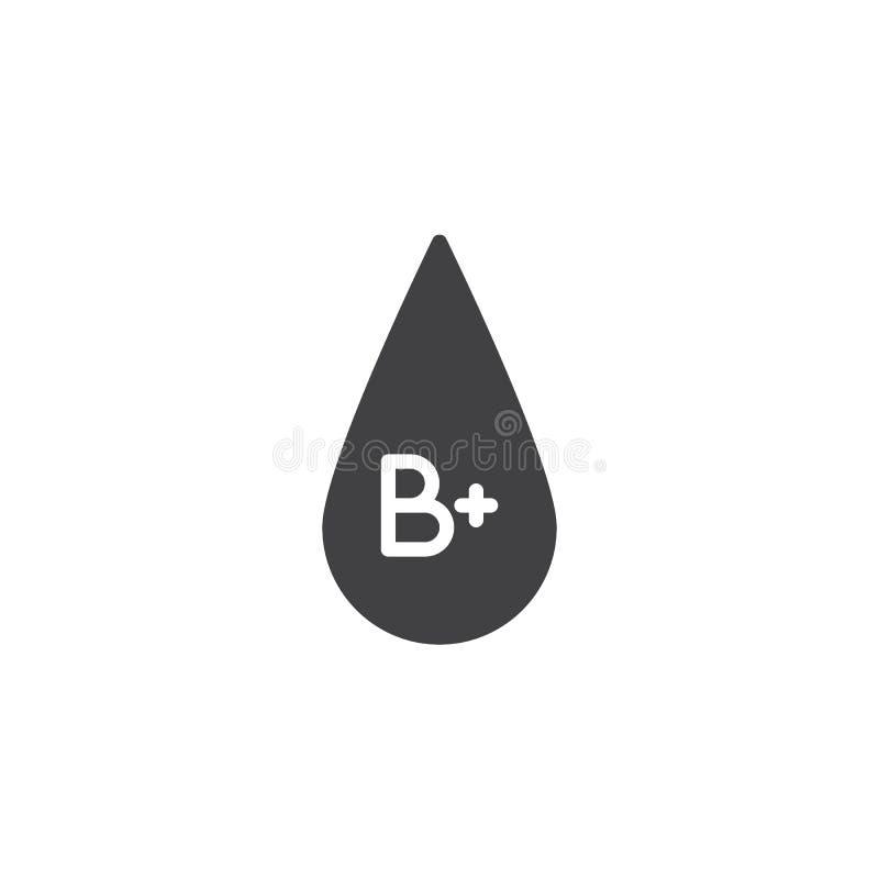 Bloedgroep B plus vectorpictogram royalty-vrije illustratie