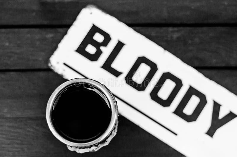 Bloedig drink wijn royalty-vrije stock afbeelding
