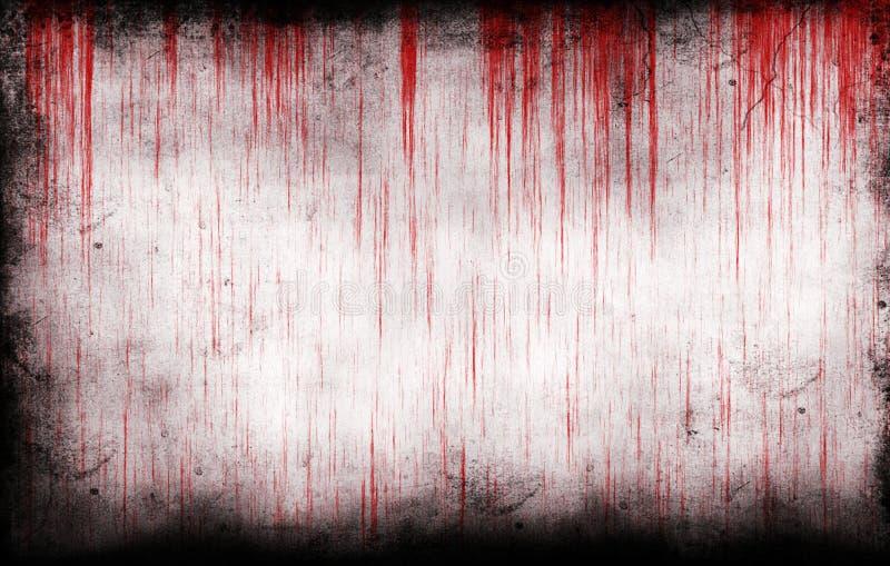 Bloedige grungy muur royalty-vrije stock afbeelding