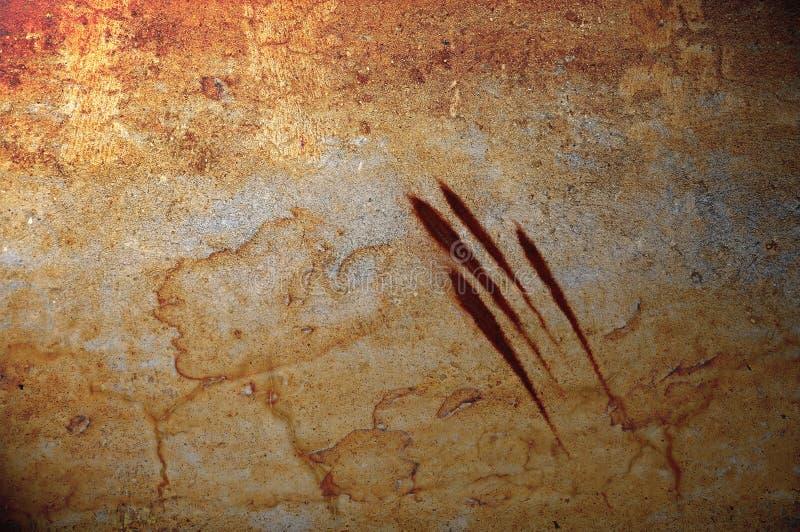 Bloedige klauwen grunge achtergrond royalty-vrije illustratie