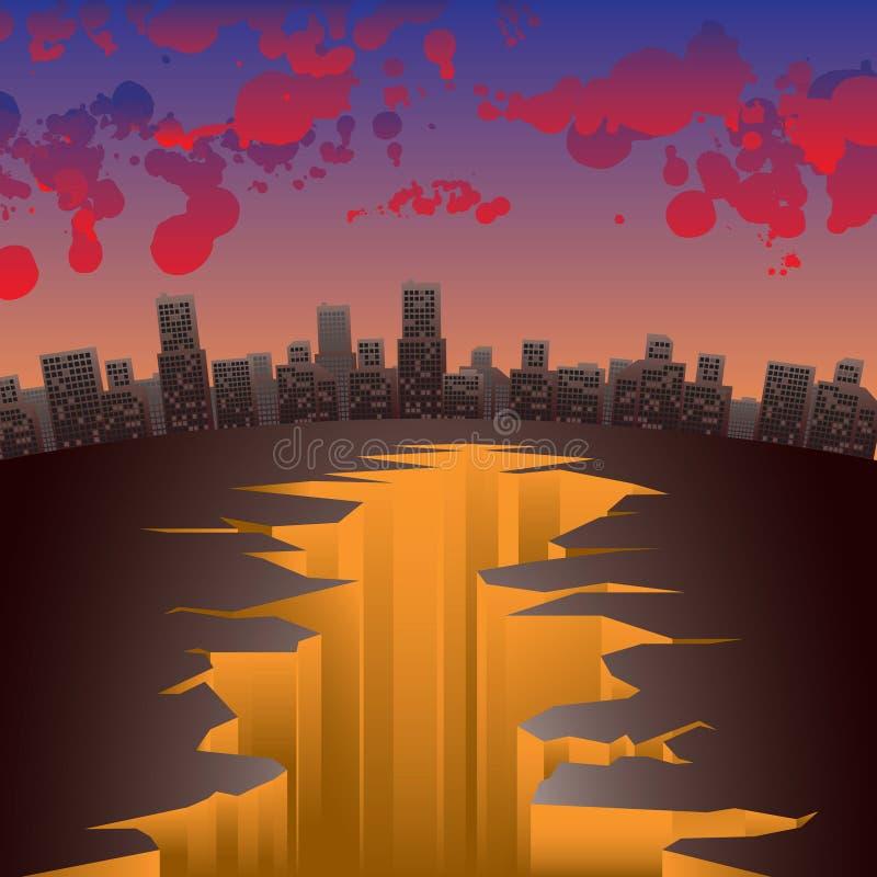 Bloedige wolken vector illustratie