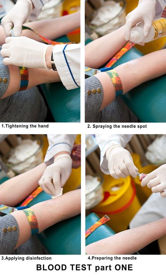 Bloedonderzoek stock afbeeldingen