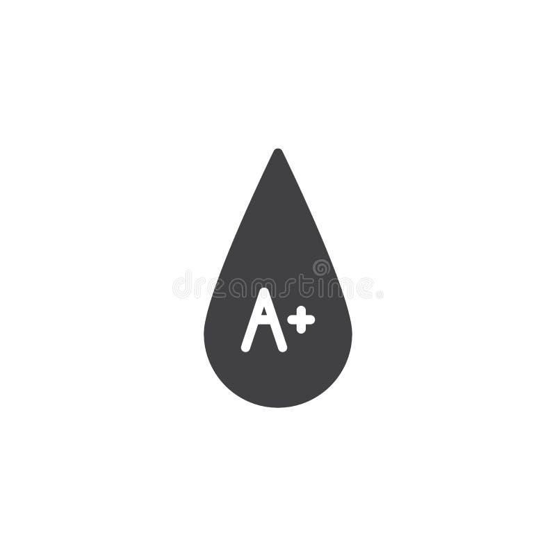 Bloedtype A plus vectorpictogram stock illustratie