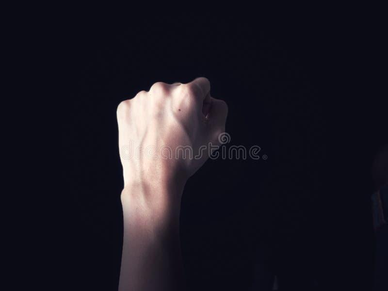 Bloedvat op hand stock afbeelding