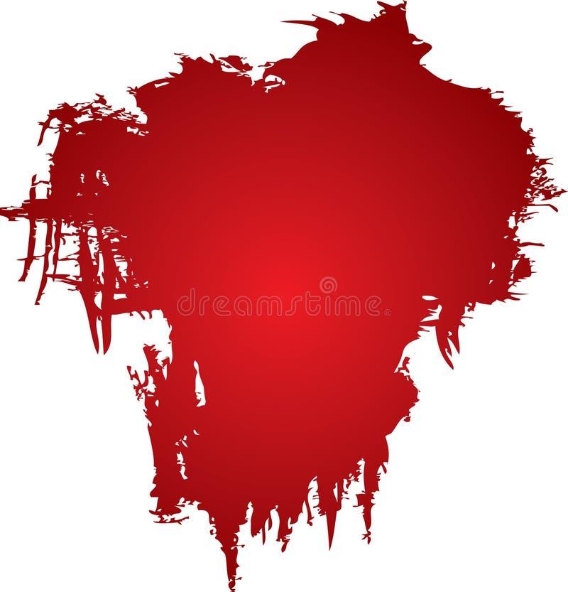 Bloedvlek stock illustratie