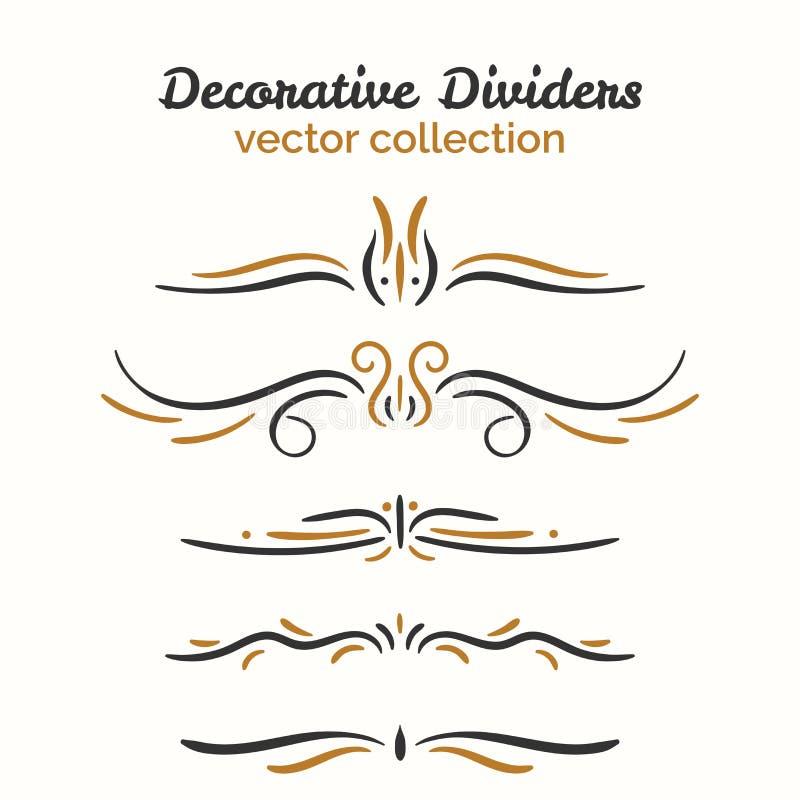 Bloei elementen Hand getrokken geplaatste verdelers Sier decoratief element Vector overladen ontwerp vector illustratie