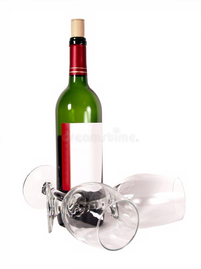 Bloei het Flessenglas van de Wijn stock foto