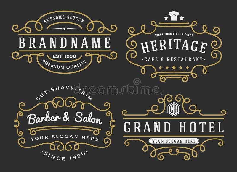 Bloei kader voor etiketten, banner, embleem royalty-vrije illustratie