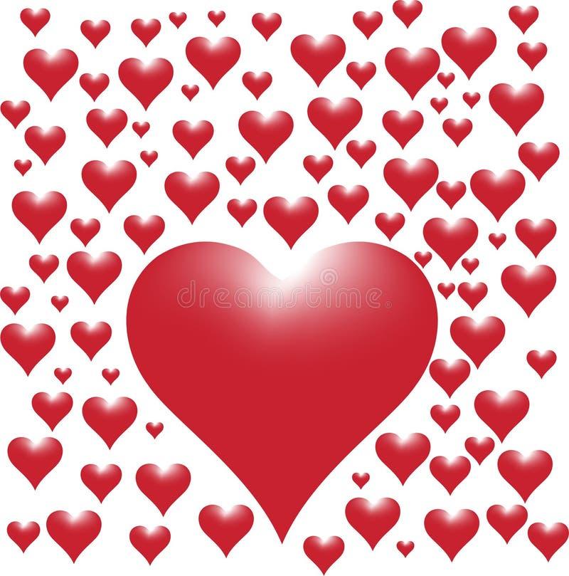 Bloeiend hart royalty-vrije stock afbeelding