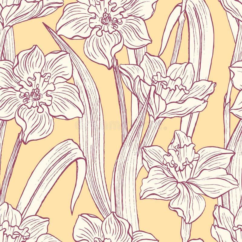 Download Bloeiende narcissen vector illustratie. Illustratie bestaande uit beige - 39102114