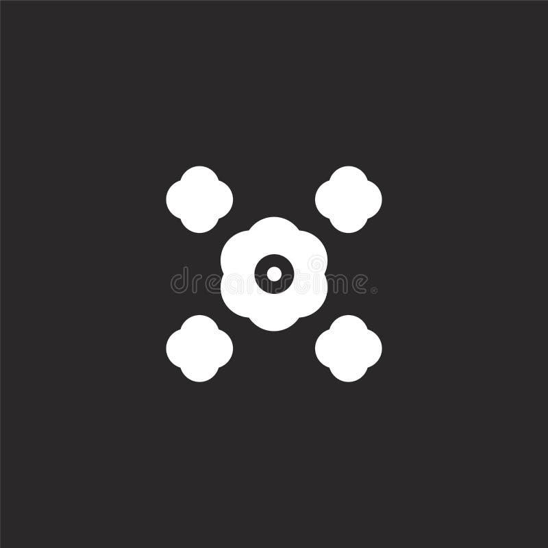 bloeipictogram Gevuld bloeipictogram voor websiteontwerp en mobiel, app ontwikkeling bloeipictogram van gevulde geïsoleerde hippi vector illustratie