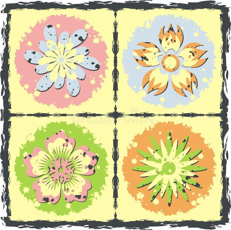Bloeit grunge textuur, vector vector illustratie