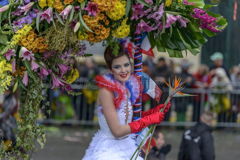 Bloem Carnaval in Nice, Frankrijk stock foto