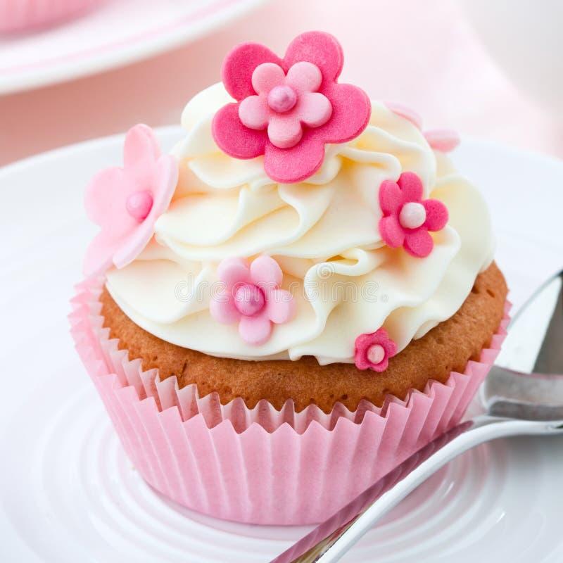 Bloem cupcake stock foto