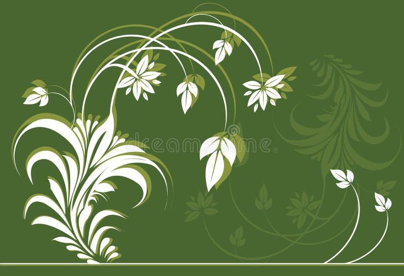 Bloem en bladeren royalty-vrije illustratie