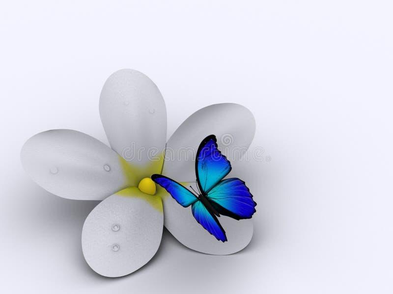 Bloem en vlinder stock illustratie