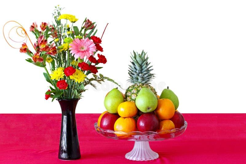 Bloem en Vruchten stock afbeeldingen