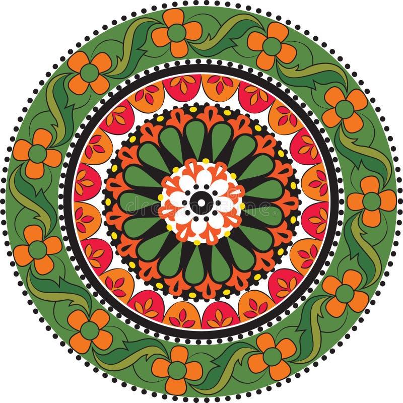 Bloem Mandala vector illustratie