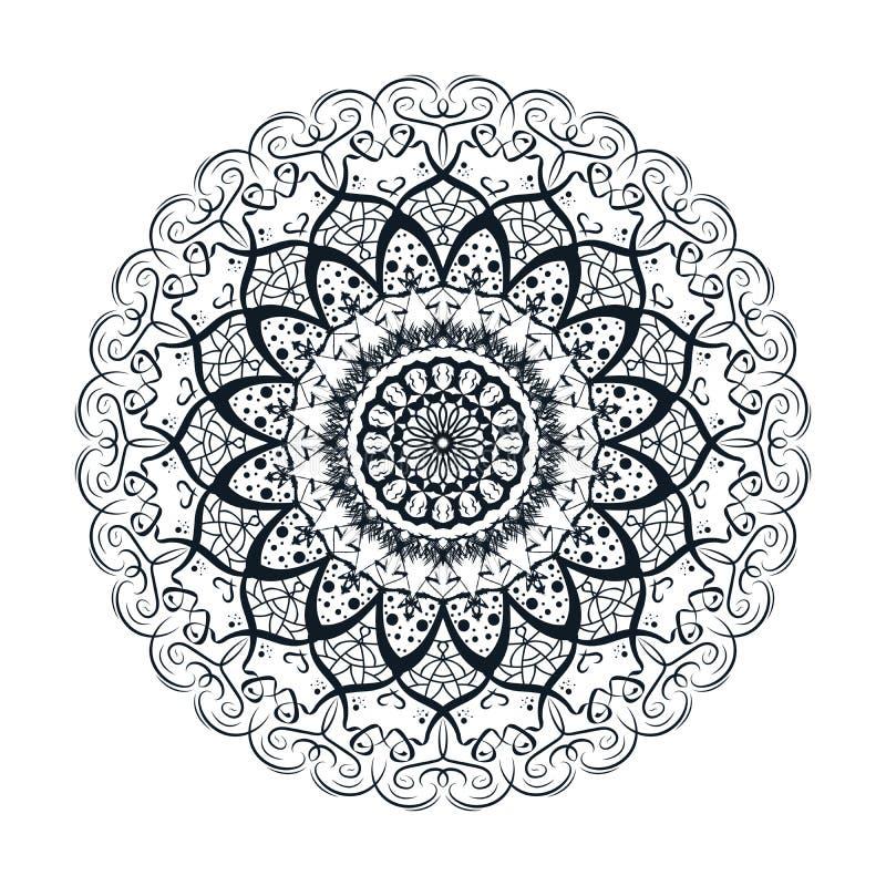 Bloem Mandala Design Kleurende boekpagina Vector illustratie royalty-vrije illustratie