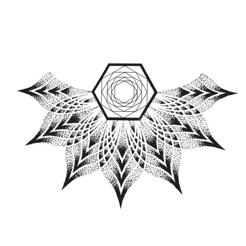 Bloem Mandala Uitstekende decoratieve elementen vector illustratie