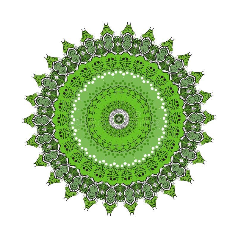 Bloem Mandala Uitstekende decoratieve elementen Kleurende boekpagina vector illustratie