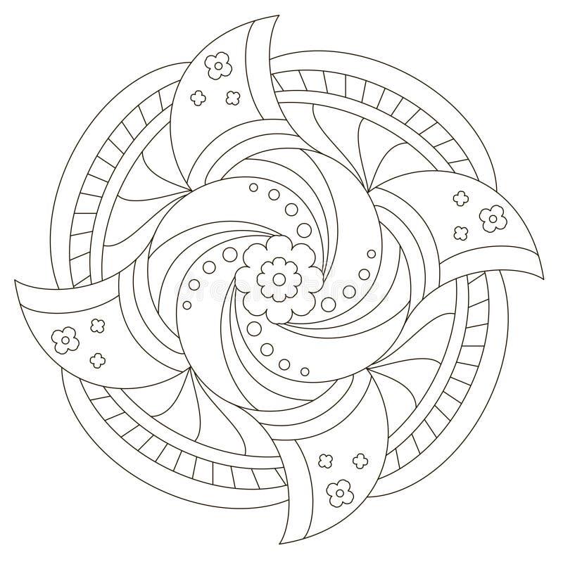 Bloem Mandala voor grappige jonge geitjes stock illustratie