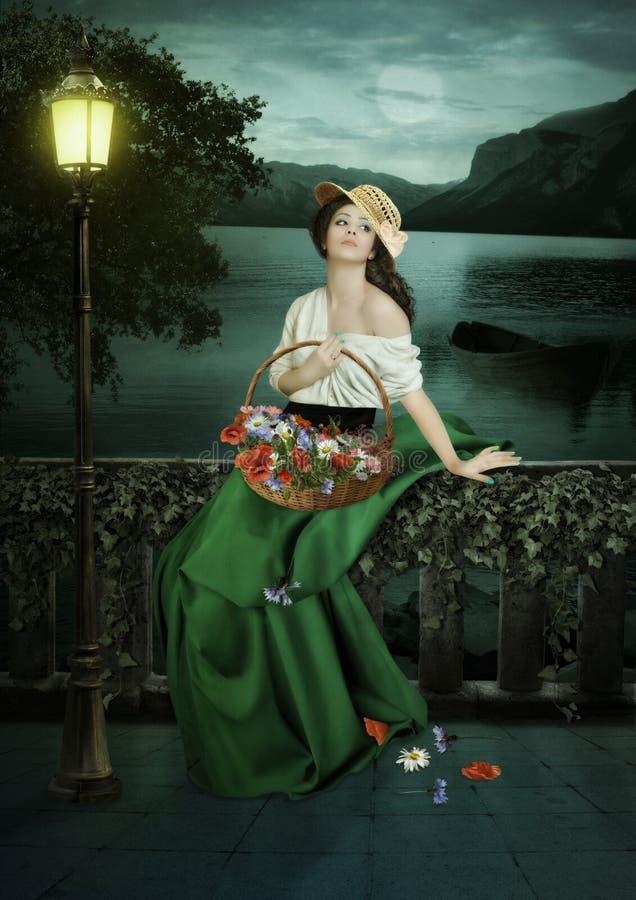 Bloem-meisje royalty-vrije stock fotografie
