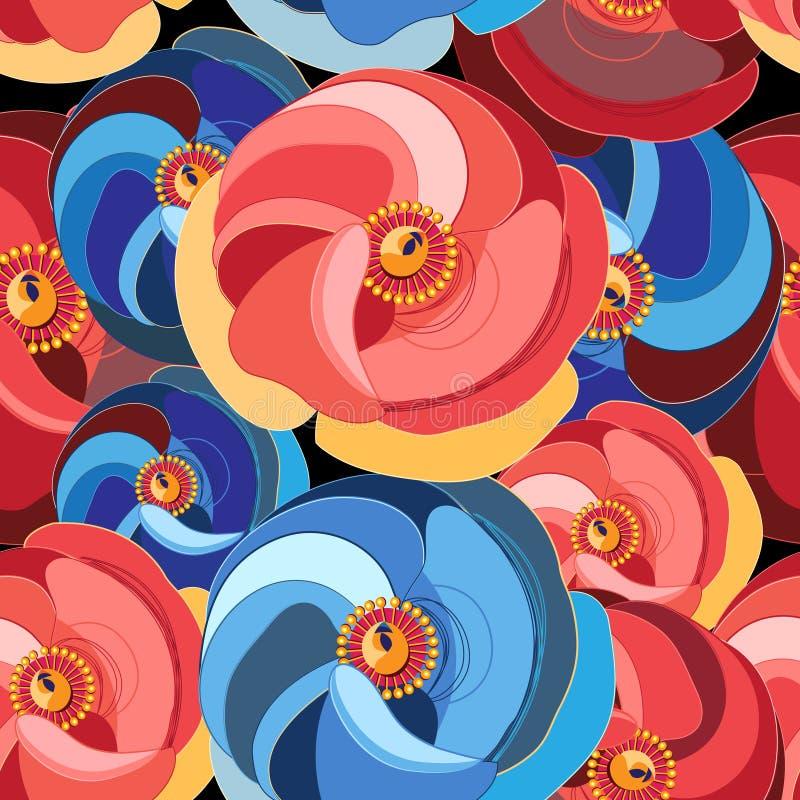 Bloem met multicolored bloemblaadjes stock illustratie