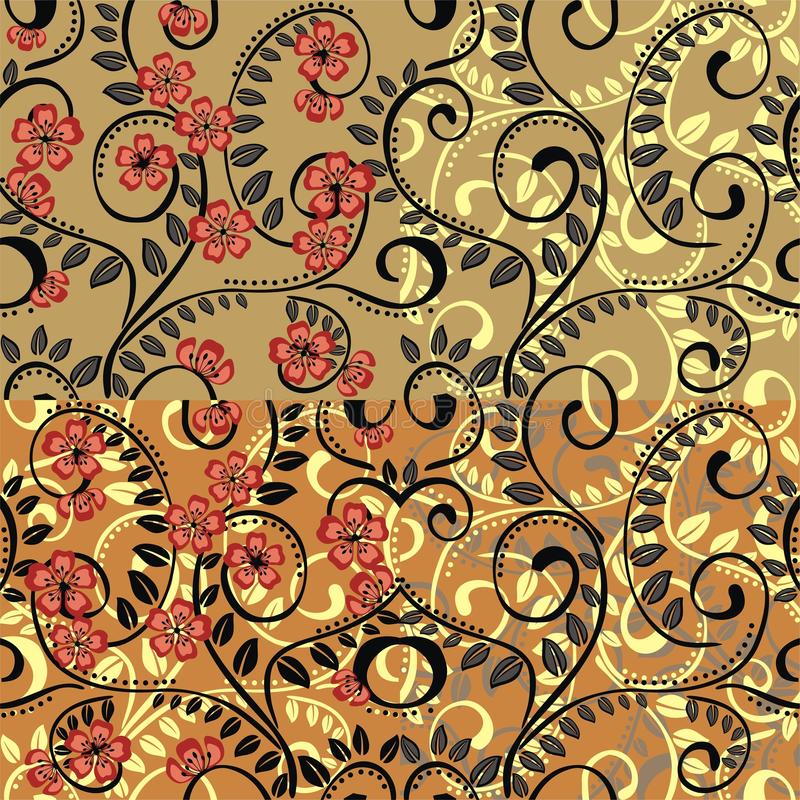Bloem naadloos patroon stock afbeelding